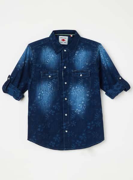 GINI & JONY Stonewashed Denim Shirt