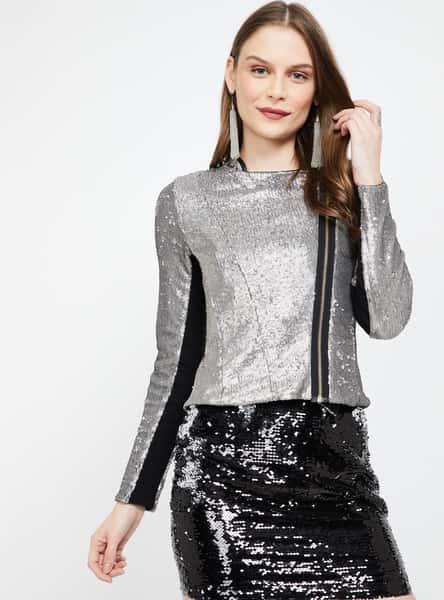 GINGER Embellished Zip-Closure Jacket