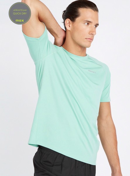 Textured Reflective Quick Dry T-shirt with Raglan Sleeves