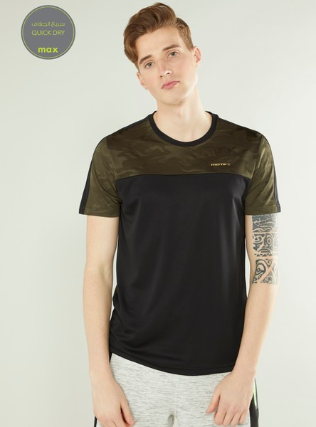 Jacquard Print Quick Dry T-shirt with Short Sleeves