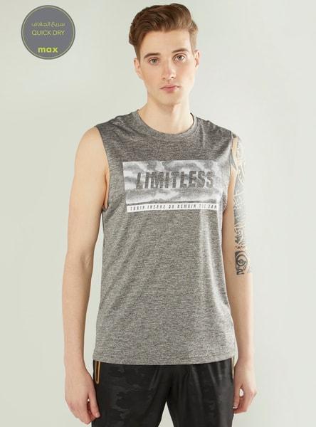 Sleeveless Graphic Print Quick Dry Vest