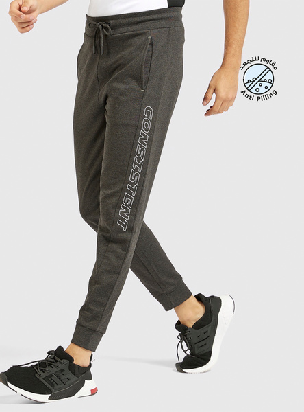 Printed Jog Pants with Drawstring and Pockets