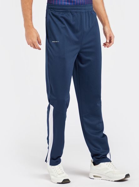 Solid Track Pants with Pocket Detail and Elasticised Waistband