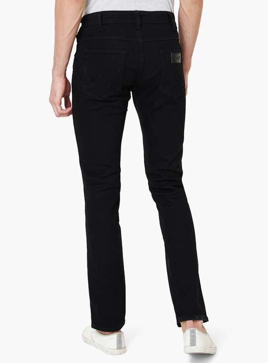 WRANGLER Solid Low Rise Straight Cut Jeans
