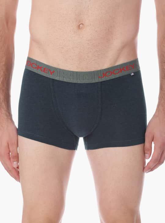 JOCKEY Solid Cotton Boxer Briefs - Assorted Colour & Design