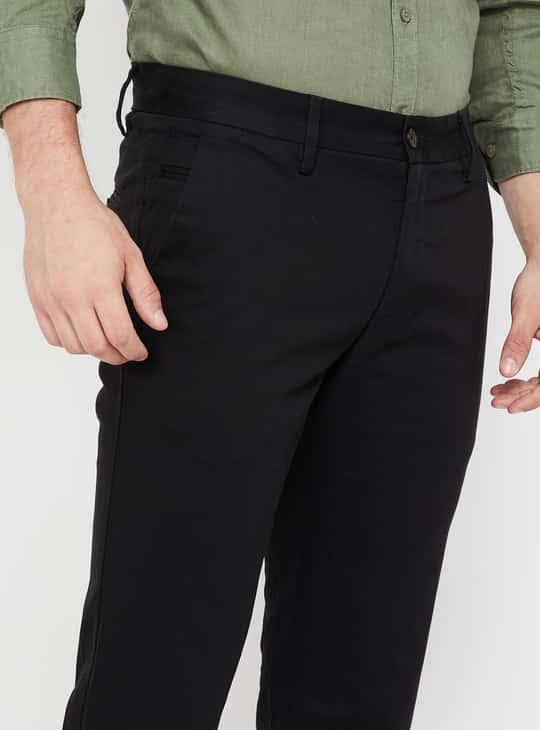 CODE Slim Fit Flat Front Pants