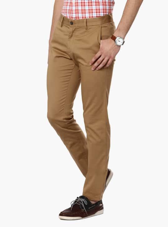 CODE Cotton Lycra Slim Fit Pants