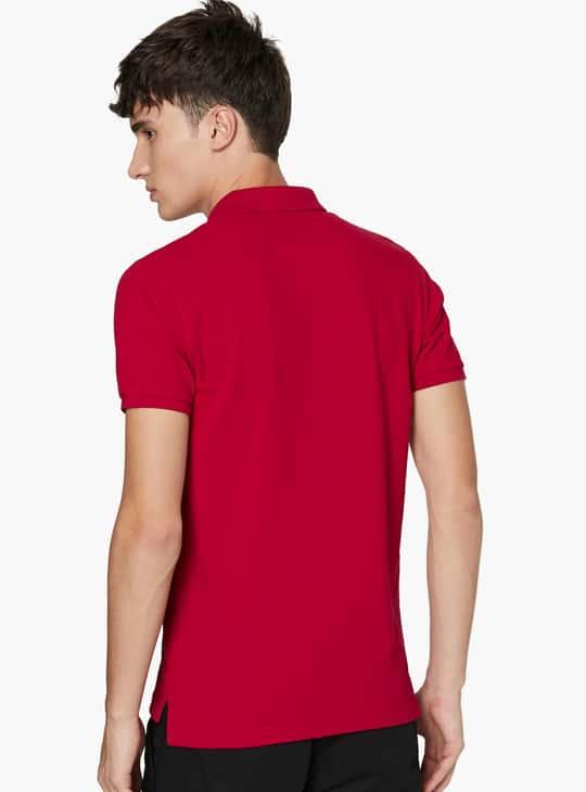 FAME FOREVER Men Solid Polo Neck T-Shirt