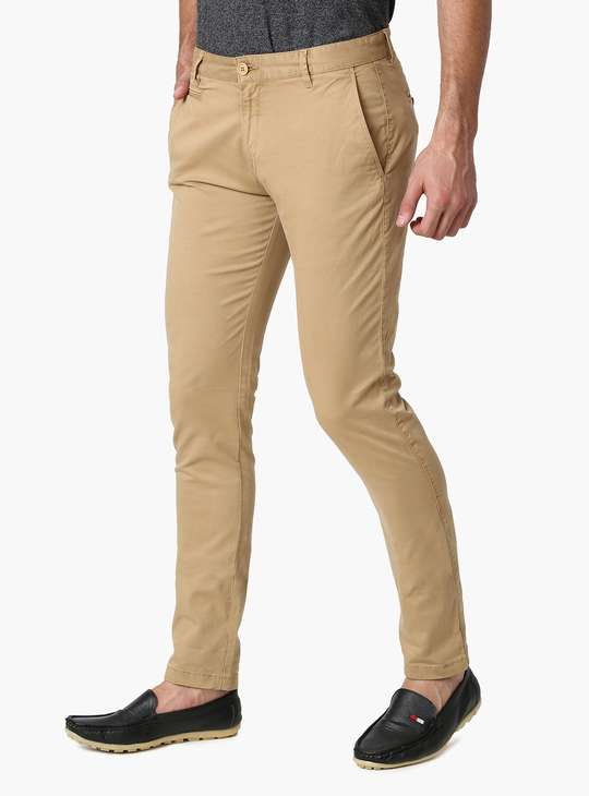 AEROPOSTALE Solid Low Rise Slim Fit Trousers