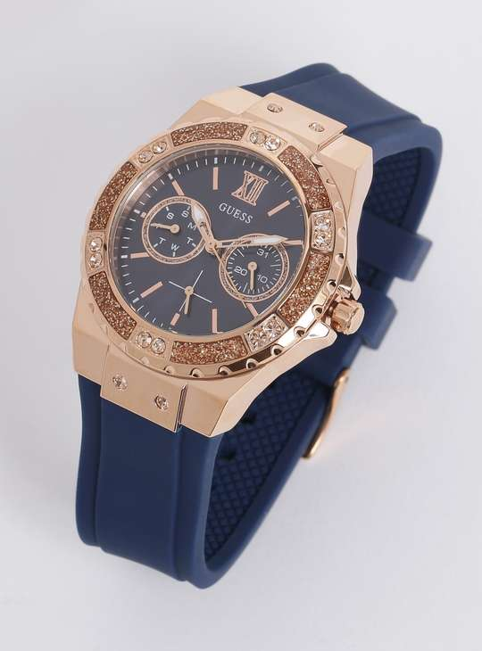 GUESS Women Chronograph Crystal Encrusted Analog Watch - W1053L1
