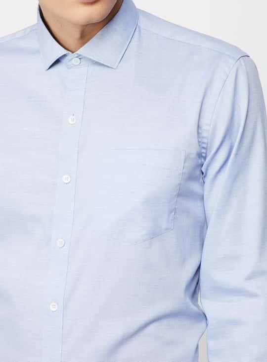 CODE Regular Fit Solid Formal Shirt