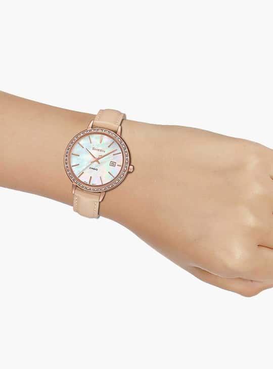 CASIO SHEEN Swarovski-Encrusted Analog Watch - SHE-4052PGL-7BUDF (SX246)