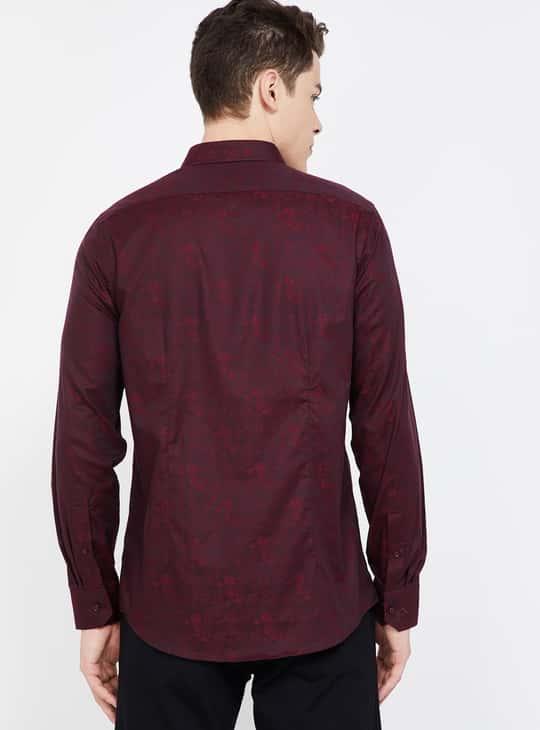 BLACKBERRYS Textured Full Sleeves Slim Fit Formal Shirt