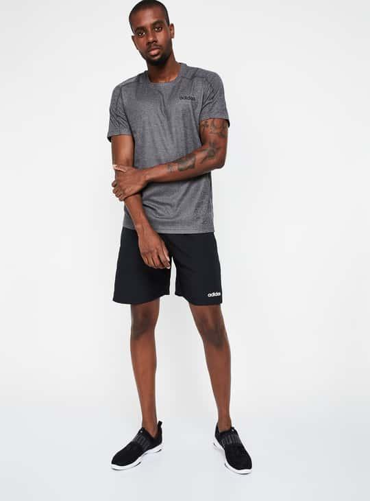 ADIDAS Striped Sports Shorts