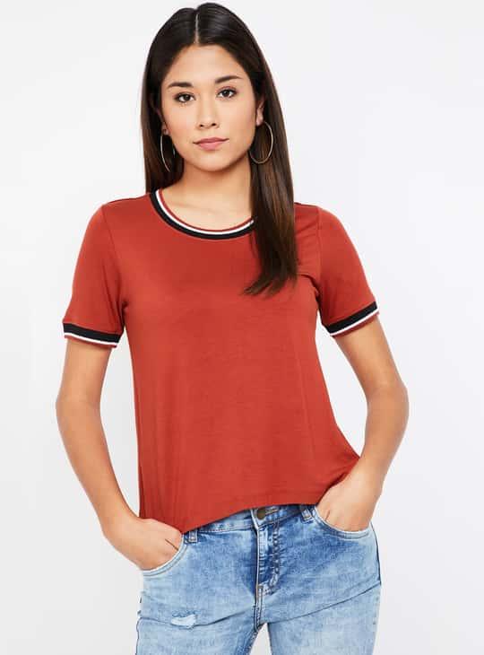 BOSSINI Solid Round Neck T-shirt