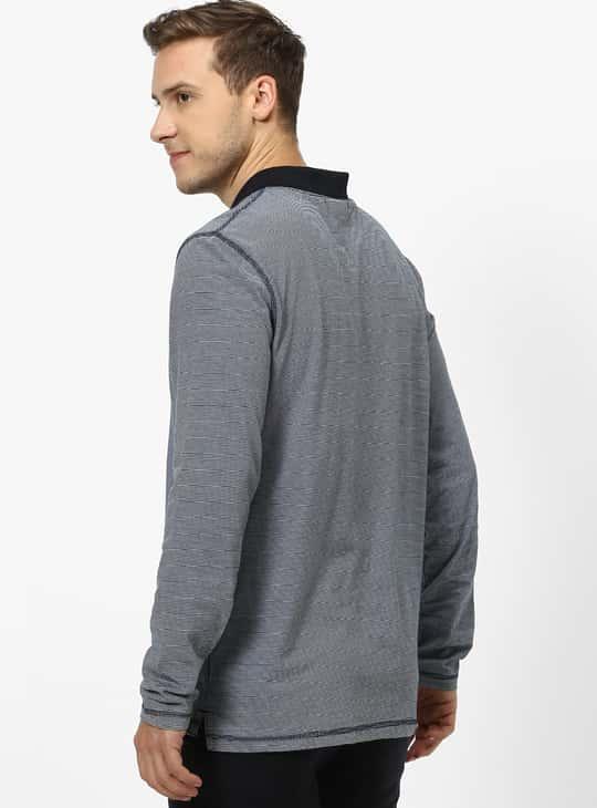 CELIO Striped Regular Fit Polo T-shirt