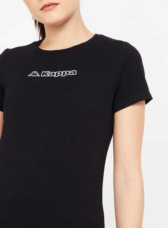KAPPA Typographic Print Short Sleeves Lightweight T-shirt