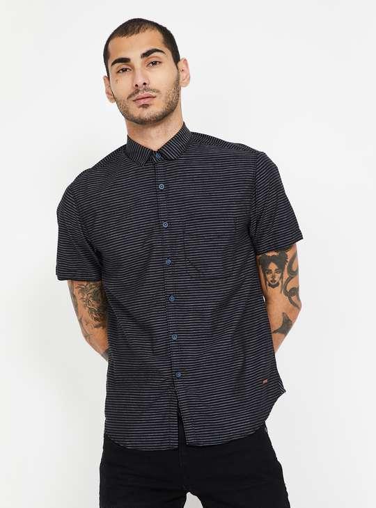 CODE Striped Slim Fit Casual Shirt