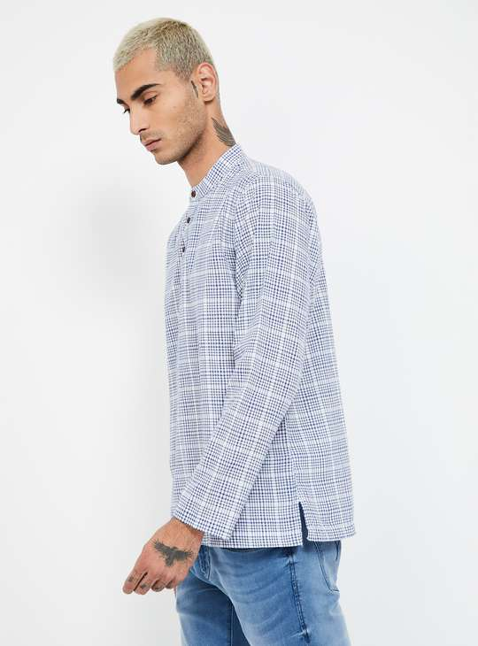 MELANGE Checked Regular Fit Shirt Kurta