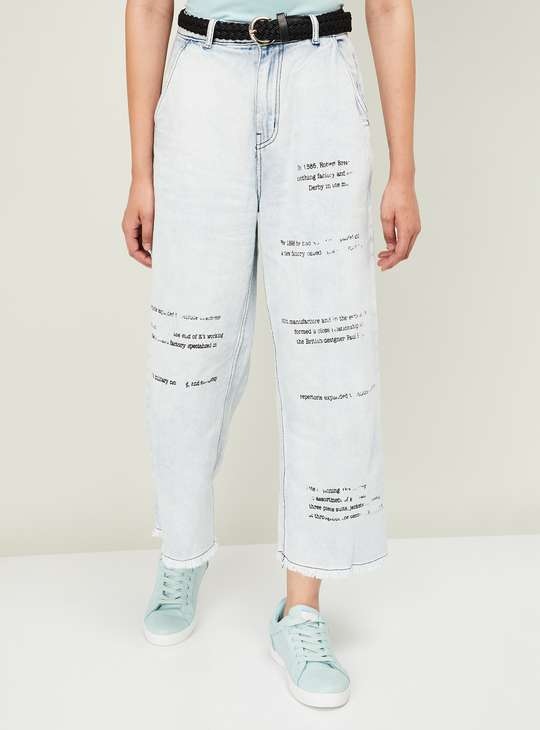 GINGER Women Printed Bootcut Jeans