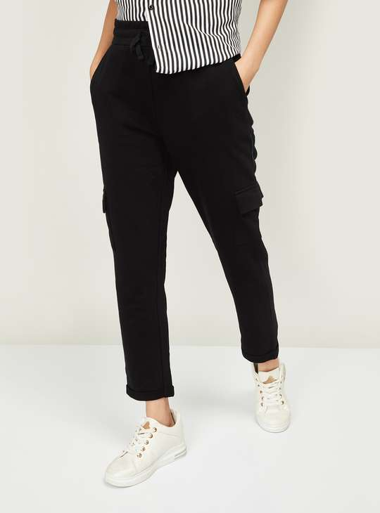 GINGER Women Mickey Mouse Print Regular Fit Cargo Pants