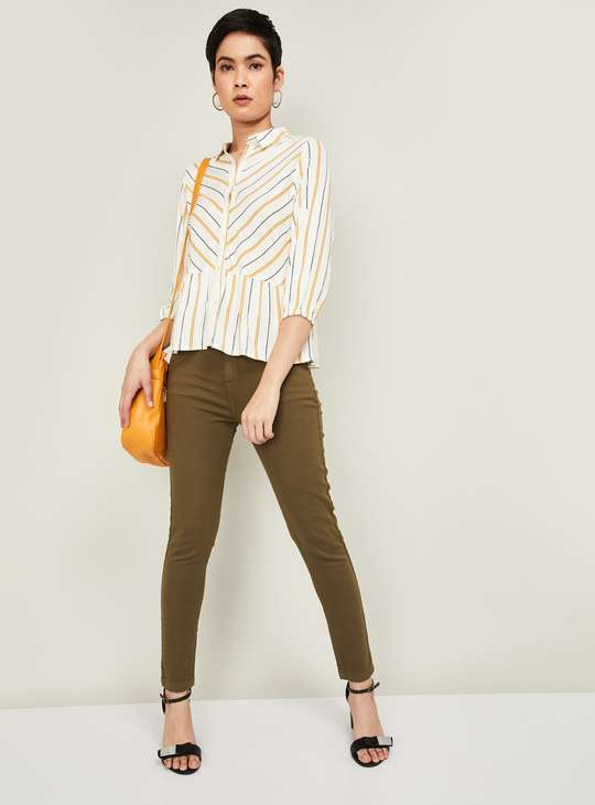 FAME FOREVER Women Striped Regular Fit Casual Shirt