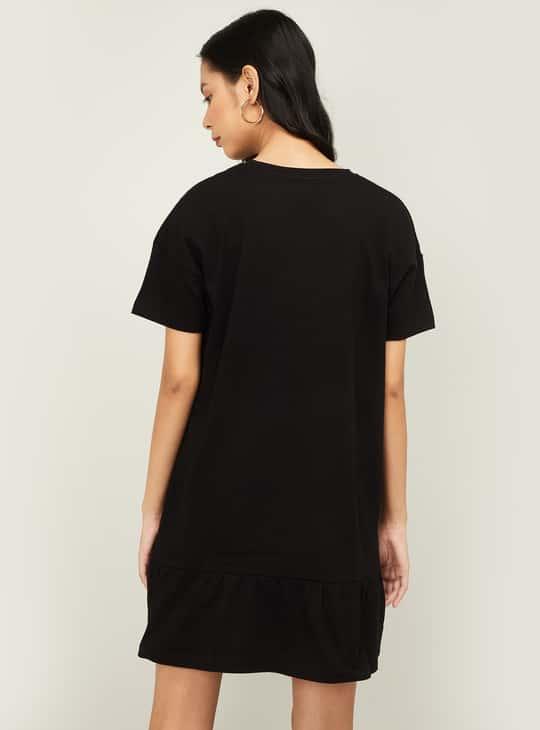 GINGER Women Graphic Print Short Sleeves T-shirt Dress