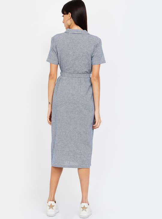 BOSSINI Textured Midi Dress