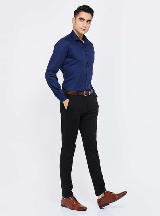 CODE Dobby Textured Slim Fit Formal Shirt