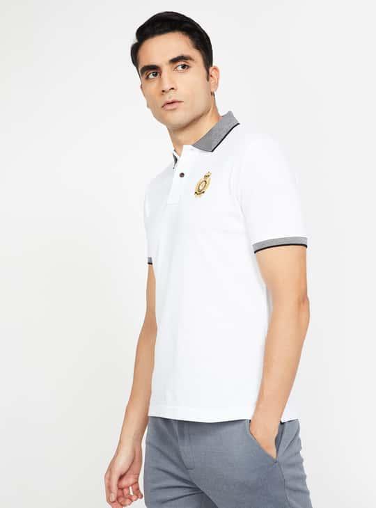 FAHRENHEIT Solid Slim Fit Polo T-shirt