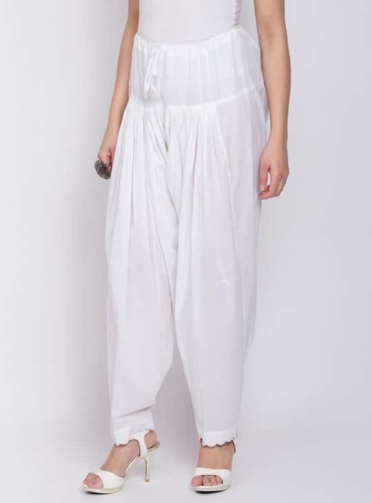 BIBA Women Solid Patiala Pants