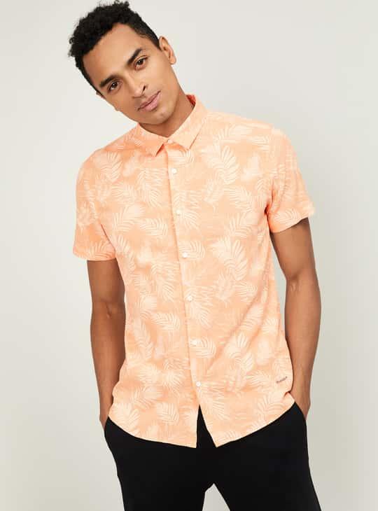 BOSSINI Men Printed Regular Fit Casual Shirt