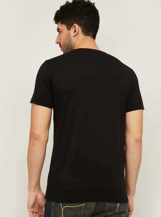 STATUS QUO Men Printed Crew Neck T-Shirt