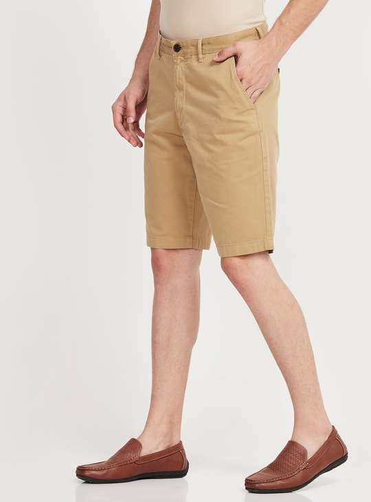 INDIAN TERRAIN Solid Regular Fit Shorts