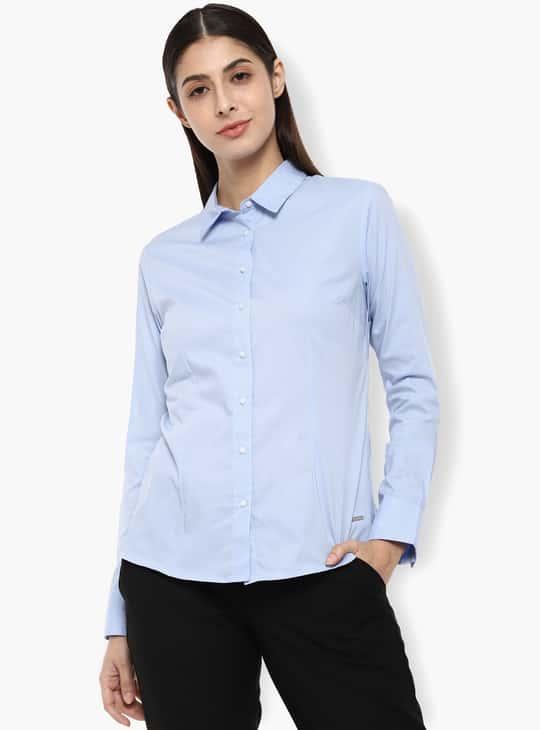 VAN HEUSEN Solid Full Sleeves Shirt