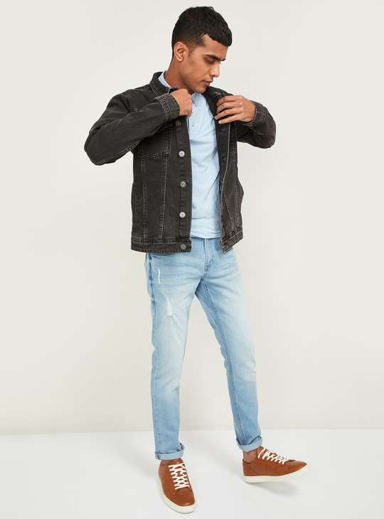 FORCA Men Solid Denim Jacket