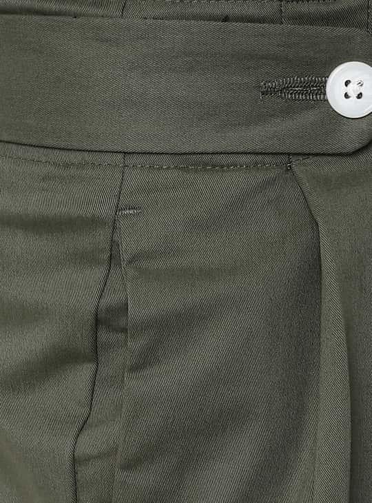 VAN HEUSEN Solid Pleated Trousers