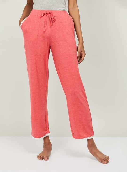 GINGER Women Textured Elasticated Pyjamas