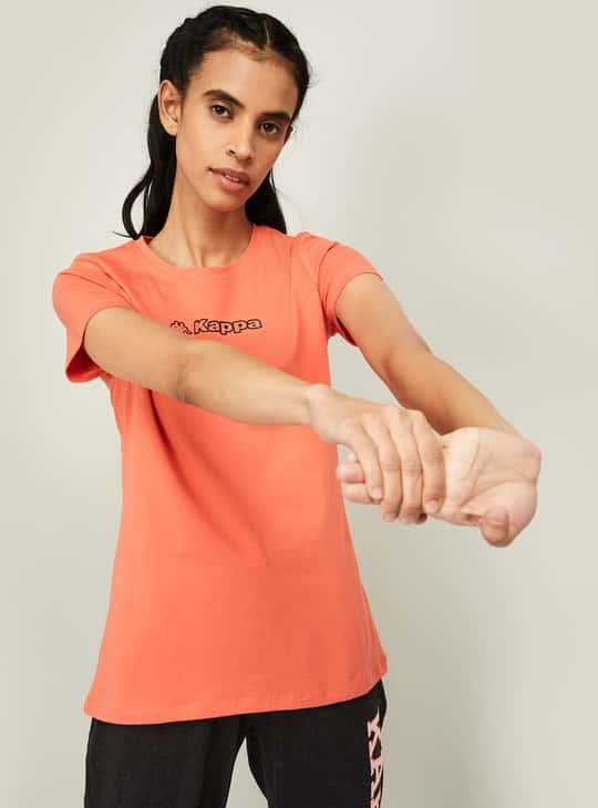KAPPA Women Printed Regular Fit T-shirt