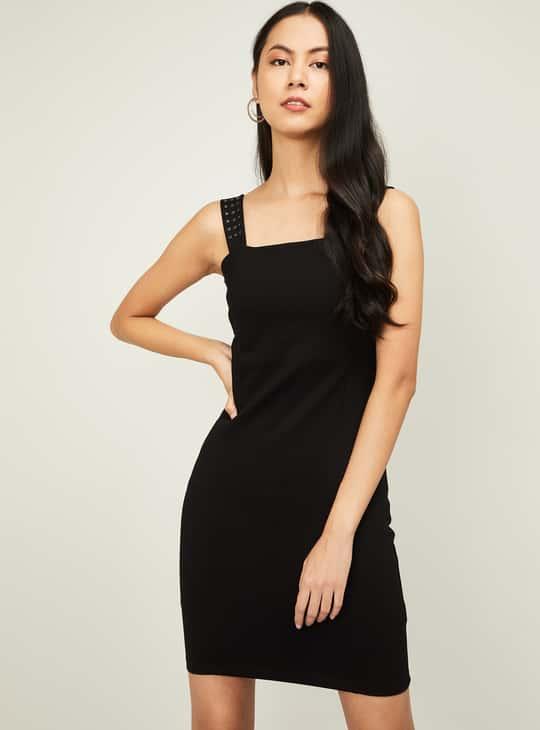 GINGER Women Solid Sheath Dress