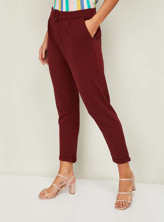GINGER Women Solid Pants