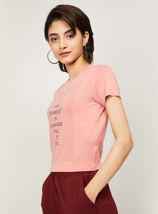 GINGER Women Typographic Print T-shirt