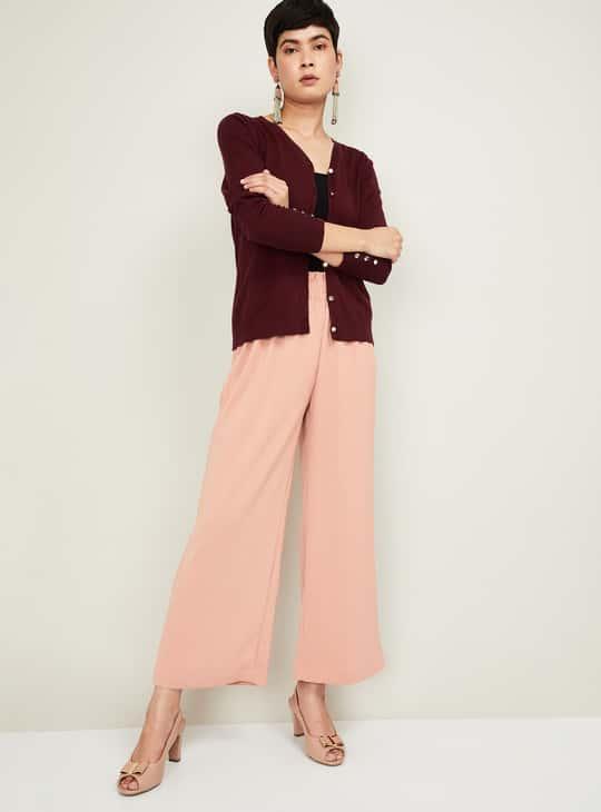 BOSSINI Women Textured Full Sleeves Knit Top
