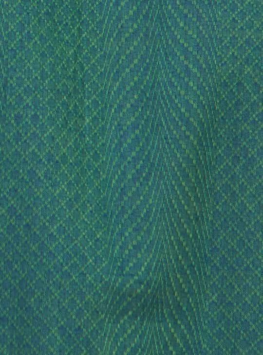 MELANGE Men Textured Full Sleeves Kurta