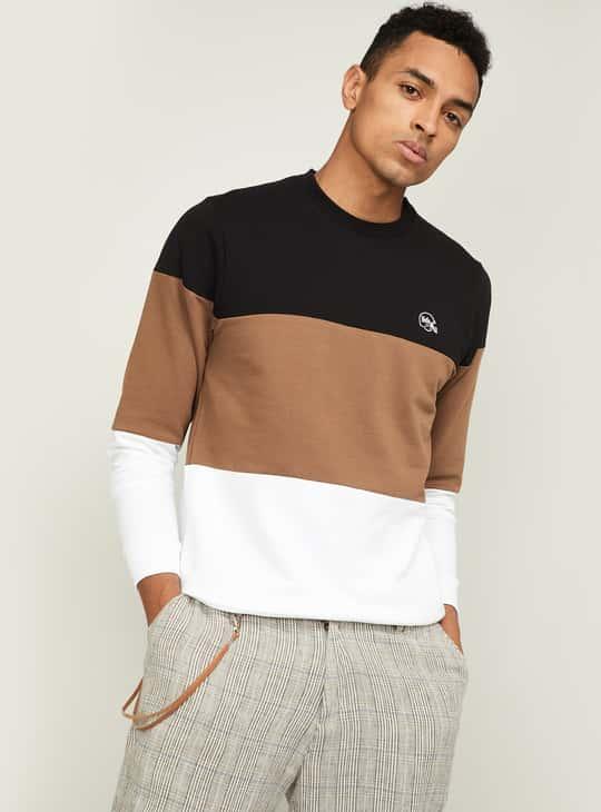 UCLA Men Colourblock Crew-Neck Sweatshirt
