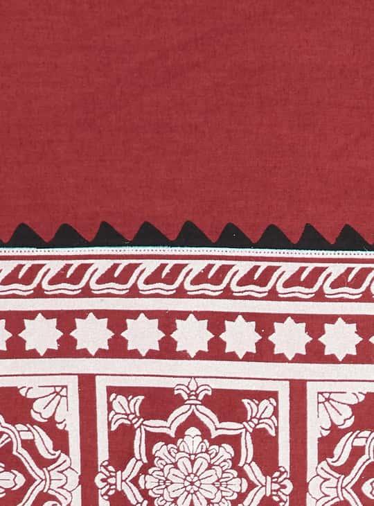 BIBA Women Printed Straight Kurta with Jacket and Palazzos