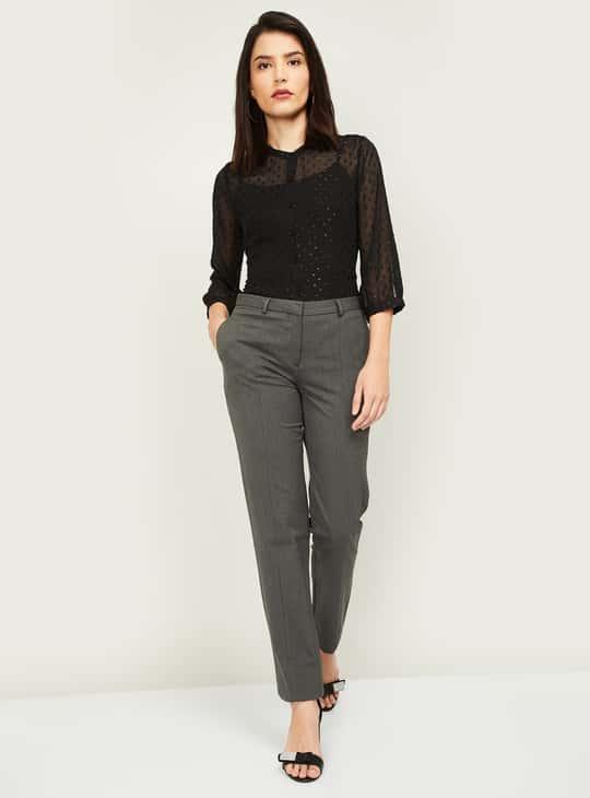 VAN HEUSEN Women Solid Trousers