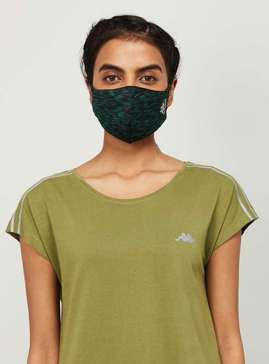 KAPPA Women Textured Assorted Anti-Bacterial Masks - Pack of 3