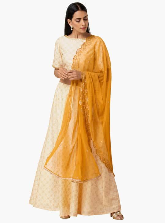 INDYA Women Embroidered Dupatta