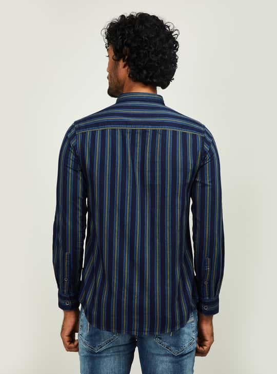 PEPE JEANS Men Striped Regular Fit Casual Shirt